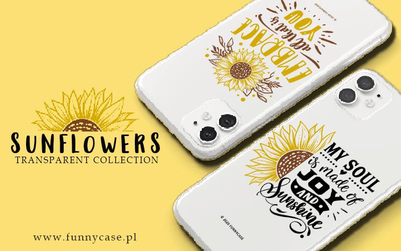 Sunflowers transparent